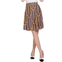 Chains Abstract Seamless A-Line Skirt