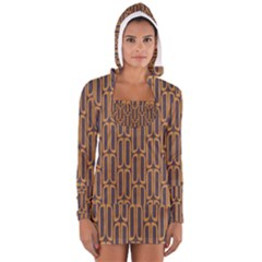 Chains Abstract Seamless Women s Long Sleeve Hooded T Shirt