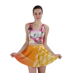 Abstract Orange Background Mini Skirt