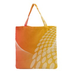 Abstract Orange Background Grocery Tote Bag
