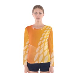 Abstract Orange Background Women s Long Sleeve Tee