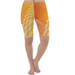 Abstract Orange Background Cropped Leggings