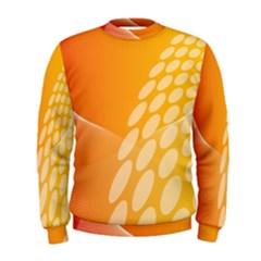 Abstract Orange Background Men s Sweatshirt
