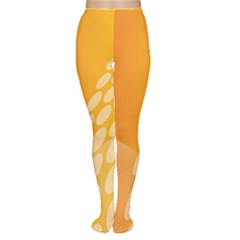 Abstract Orange Background Women s Tights