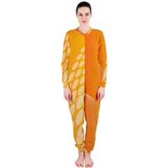 Abstract Orange Background Onepiece Jumpsuit (ladies)