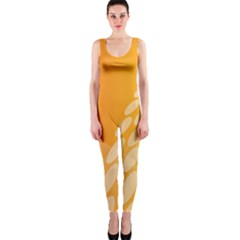 Abstract Orange Background OnePiece Catsuit