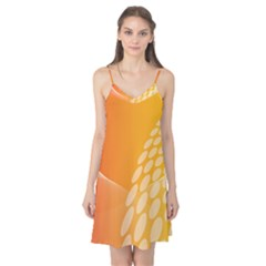 Abstract Orange Background Camis Nightgown