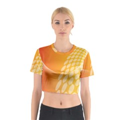 Abstract Orange Background Cotton Crop Top