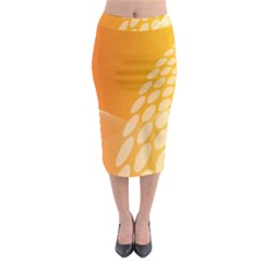 Abstract Orange Background Midi Pencil Skirt