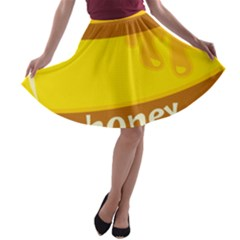 Honet Bee Sweet Yellow A Line Skater Skirt