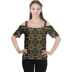 Digitally Created Seamless Pattern Tile Women s Cutout Shoulder Tee