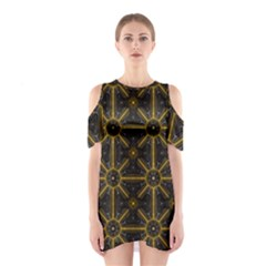 Digitally Created Seamless Pattern Tile Shoulder Cutout One Piece