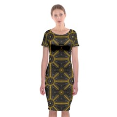 Digitally Created Seamless Pattern Tile Classic Short Sleeve Midi Dress