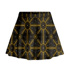 Digitally Created Seamless Pattern Tile Mini Flare Skirt
