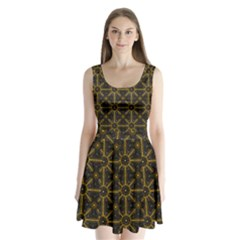Digitally Created Seamless Pattern Tile Split Back Mini Dress