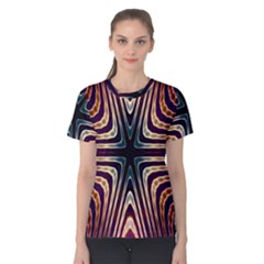 Vibrant Pattern Colorful Seamless Pattern Women s Cotton Tee