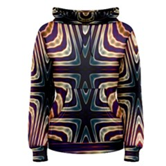 Vibrant Pattern Colorful Seamless Pattern Women s Pullover Hoodie