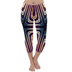 Vibrant Pattern Colorful Seamless Pattern Capri Winter Leggings