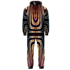 Vibrant Pattern Colorful Seamless Pattern Hooded Jumpsuit (Men)