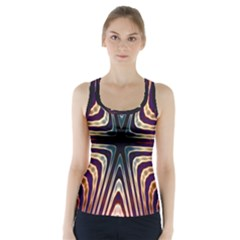 Vibrant Pattern Colorful Seamless Pattern Racer Back Sports Top