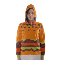 Hamburger Hooded Wind Breaker (women)