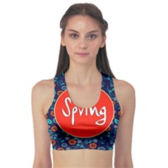 Floral Texture Pattern Card Floral Seamless Vector Sports Bra