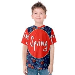 Floral Texture Pattern Card Floral Seamless Vector Kids  Cotton Tee