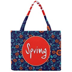 Floral Texture Pattern Card Floral Seamless Vector Mini Tote Bag