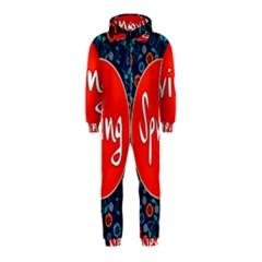 Floral Texture Pattern Card Floral Seamless Vector Hooded Jumpsuit (Kids)