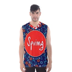 Floral Texture Pattern Card Floral Seamless Vector Men s Basketball Tank Top
