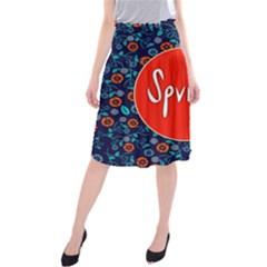 Floral Texture Pattern Card Floral Seamless Vector Midi Beach Skirt