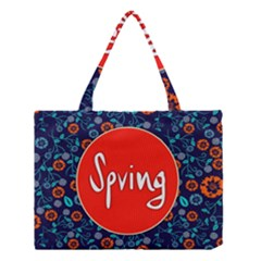 Floral Texture Pattern Card Floral Seamless Vector Medium Tote Bag