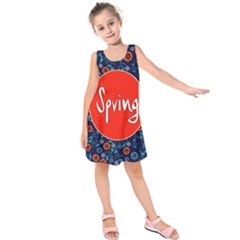 Floral Texture Pattern Card Floral Seamless Vector Kids  Sleeveless Dress