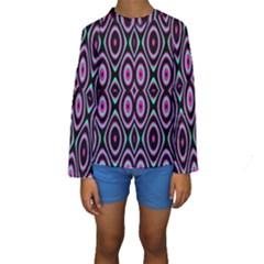 Colorful Seamless Pattern Vibrant Pattern Kids  Long Sleeve Swimwear