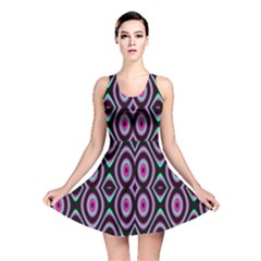 Colorful Seamless Pattern Vibrant Pattern Reversible Skater Dress