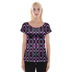 Colorful Seamless Pattern Vibrant Pattern Women s Cap Sleeve Top