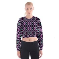 Colorful Seamless Pattern Vibrant Pattern Women s Cropped Sweatshirt