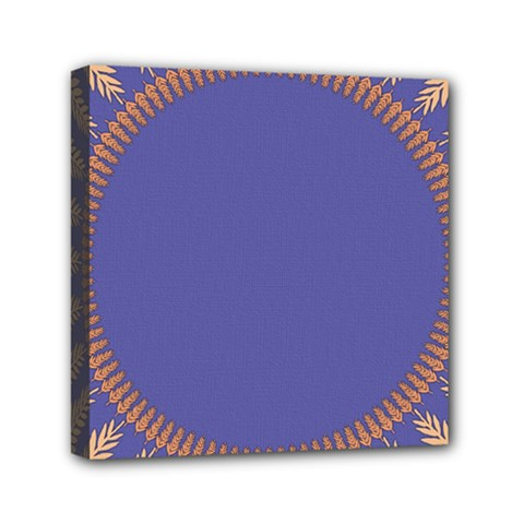 Frame Of Leafs Pattern Background Mini Canvas 6  x 6