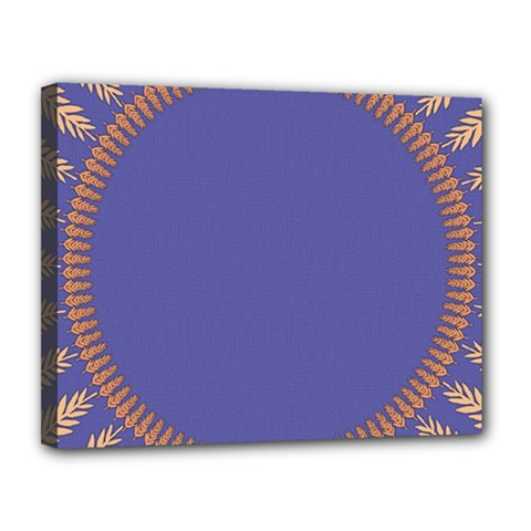 Frame Of Leafs Pattern Background Canvas 14  X 11