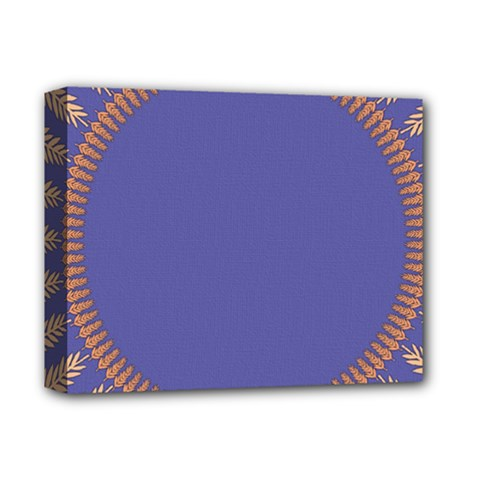 Frame Of Leafs Pattern Background Deluxe Canvas 14  x 11