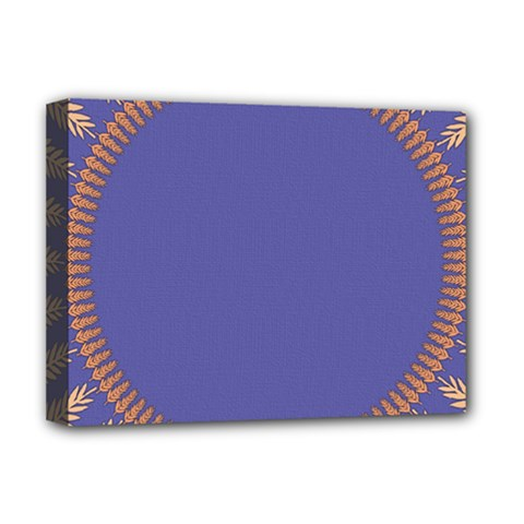 Frame Of Leafs Pattern Background Deluxe Canvas 16  X 12