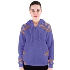 Frame Of Leafs Pattern Background Women s Zipper Hoodie