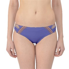 Frame Of Leafs Pattern Background Hipster Bikini Bottoms