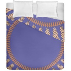 Frame Of Leafs Pattern Background Duvet Cover Double Side (california King Size)