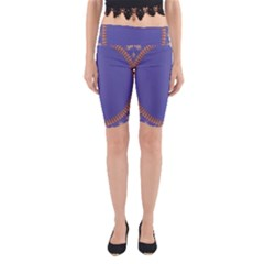 Frame Of Leafs Pattern Background Yoga Cropped Leggings