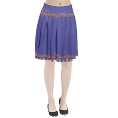 Frame Of Leafs Pattern Background Pleated Skirt