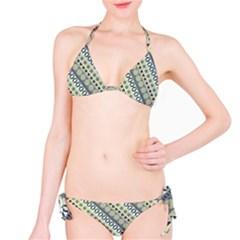 Abstract Seamless Background Pattern Bikini Set