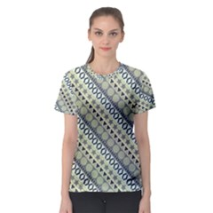 Abstract Seamless Background Pattern Women s Sport Mesh Tee
