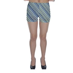 Abstract Seamless Background Pattern Skinny Shorts