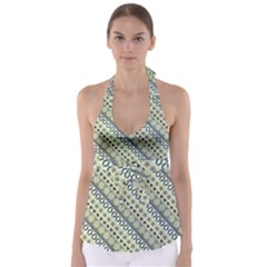 Abstract Seamless Background Pattern Babydoll Tankini Top